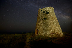 Torre Minervino (angelo.dautilia) Tags: stars tower galaxy milkyway torre salento wonderful nature sea night lights lecce minervino puglia italia canon 6d cielo sky landscape paesaggio stones old pathway