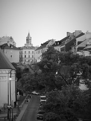 Hilly old town of Lublin (roomman) Tags: 2018 lublin city town weekend trip bw black white blackandwhite bandw style design contrast monochrome