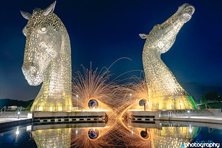 Steel Wool Photography at the Kelpies