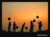 Images from Rural Bengal (pallab seth) Tags: silhouette friends sunset bengal india