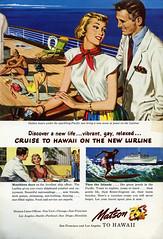 Vintage Matson Lurline ad (1948) (Rocketlandphoto.com) Tags: matson lurline vintage scan hq vintagead hawaii vintagemagazinescan 1940s magazinead retro graphicdesign ephemera vintageillustration illustration art nationalgeographic print