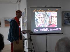 Andrew Logan at the RBSA - 1 (the justified sinner) Tags: justifiedsinner panasonic 17 20mm gx7 andrewlogan sculptor sculpture jewellery jewelry rbsa birmingham art