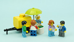 Kvass (de-marco) Tags: lego kvass town barrel tank trailer drink city yellow