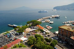 Down to the harbour (zawtowers) Tags: sorrento campania italy italia bayofnaples seaside town resort sorrentine peninsula wednesday 30 may 2018 warm dry sunny blue skies sunshine hot holiday vacation break summer via luigi de maio view down harbour boats water calm still