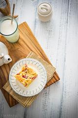 rhubarb cake (Malgosia Osmykolorteczy.pl) Tags: food foodie foodphoto foodstyling fotografia foodphotography foodporn foodstylist feed rhubarb cake