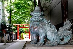 Hanazono shrine. Shinjuku. Tokyo. (Bernard Spragg) Tags: shinjuku japan asia shrine lumix holy temple bronze lumixfz1000 fz1000