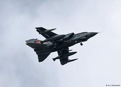 Royal Air Force Panavia Tornado GR4 ZG752 'RAF 100' overflying RAF Mildenhall/EGUN (Mosh70) Tags: rafmildenhall egun royalairforce raf gr4 tornado unitedstatesairforce unitedstatesairforceeurope mv22osprey rc135 rc135rivetjoint