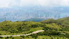 City in the Sky (Darren Poun) Tags: nikon d800 d800e nikkor58mm f14 landscape nature hiking hongkong taimoshan kowloon victoriaharbor summer