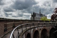 Hooglandse Kerk (Joseph Trojani) Tags: leyde holland paysbas nederland ville cité city cities nikon d7000 architecture architectur pont bridge church eglise rampart rambarde cathedrale cathedral badweather