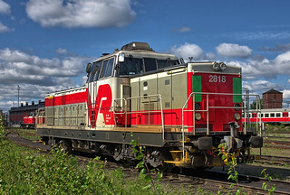 VR Finnish Railways Class Dr16 diesel-electric No. 2818 on Joensuu shed on 31 May 2018