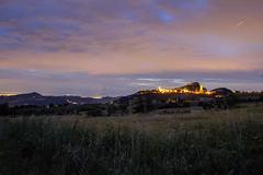 Magical Landscape (raffaella.rinaldi) Tags: dusk landscape castle fortress italy san leo valmarecchia fireflies field nature night lights wheat sky clouds