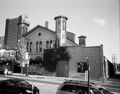 Cultural Arts Center, Columbus, Ohio (ryanungeronline) Tags: 120film 2017 columbusohio fomapan400 pentax67 building bw bwnegative filmphotography