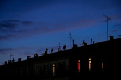 City Evening Colors (NathalieSt) Tags: europe france hérault languedocroussillon montpellier occitanie city fuji fujifilm ville xt20 night nuit silhouette