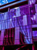 Construction Reflection (Steve Taylor (Photography)) Tags: digitalart architecture building construction office window blue black mauve purple red white glass newzealand nz southisland canterbury christchurch cbd city texture reflection perspective pattern sky cloud pwc warrenandmahoney framework