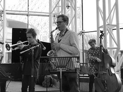 Christos Stylianides Quintet. Jazzlines. 15th June '18. Symphony Hall, Birmingham, West Midlands. (Imagine Bill) Tags: joshschofield alto christosstylianides trumpet samingvorsen bass jazzlines birminghamjazz christosstylianidesquintet uk westmidlands