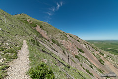 Across the Talus (kevin-palmer) Tags: bearbutte statepark bearbuttestatepark southdakota blackhills sturgis june summer spring morning sunny blue sky nikond750 samyang rokinon14mmf28 cirrus cloud scenic view trail path talus green