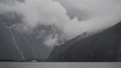 Rainy Day Milford Sound (RP Major) Tags: milford sound new zealand nz mountains water south island boat ship fiorland