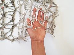 news fabric (Ines Seidel) Tags: news newspaper fabric texture machinestitching sewing hands