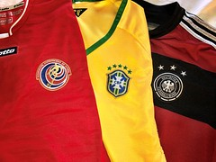 What to wear? Decisions! Decisions! (krossbow) Tags: germany costarica brazil hemden camisas 2018 worldcup soccer futbol jerseys shirts