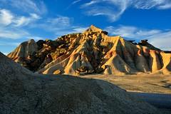 BARDENAS ( NAVARRA) (alfredo2057) Tags: alfredo azul sol senderismo nikon luz navarra nubes pueblo color monte cielo campo