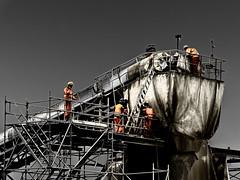 Störung am Förderband (-BigM-) Tags: deutschland germany bigm baden württemberg kirchheim stuttgart ulm nbs s21 baustelle construction site alb schwäbisch teck implenia