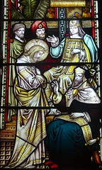 [63059] Swallow : East Window (Budby) Tags: swallow lincolnshire church westlindseychurchesfestival window stainedglass
