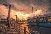 An Evening in Gothenburg (Fredrik Lindedal) Tags: sunlight sun sunrays sunset train tram shadows gothenburg göteborg clouds visitsweden destination lindedal fredriklindedal