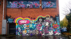 THIS IS YOUR BRAIN ON DRUGS (rylojr1977) Tags: streetart graffiti urban liverpool art spray paint walls murals unitedkingdom merseyside england drugs antidrugs brain cartoon surreal