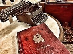 1950's Woodstock (Ellery Images) Tags: stilllife store shop red dutch elleryimages sale tag memories scrapbook antique 1950 woodstock typewriter vintage