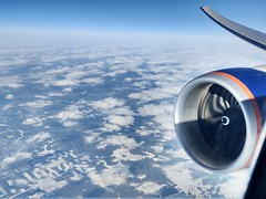 Aeroflot B777-300ER over still snowy Russia (Jaws300) Tags: htc wingtip wing ge90 generalelectric ge jetengine engine jet fromabove aloft airborne air asia b777300er b773 b777300 b777 boeing landscape snowy snow scenery flying flyingscenery russia aeroflot