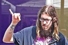 Hairy Guy (sea turtle) Tags: seattle universitydistrict udistrict street fair streetfair festival streetfestival spring sunny sunshine city urban hair hairy beard facialhair longhair guy dude man