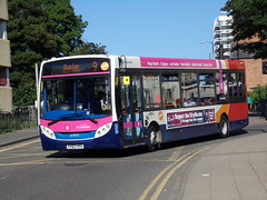 Stagecoach Midlands ADL Enviro 200 37055 YY63 YPX (Alex S. Transport Photography) Tags: bus outdoor road vehicle unusual stagecoach stagecoachmidlandred stagecoachmidlands off route adlenviro200 enviro200 e200 adldartslf4 route8branding route9 37055 yy63ypx