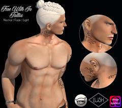 Lush Fire with InTattoo_Men (Kayshla Aristocrat) Tags: lush secondlife sl tattoo appliers catwa omega ink necktattoo menjailevent exclusive kayshlaaristocrat designer