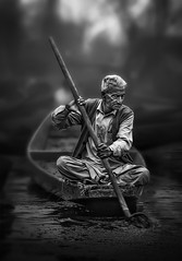 experience speaks (tchakladerphotography) Tags: lake dal kashmir boat light people person atmosphere mood tradition