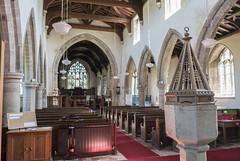 Brandesburton, St Mary's church interior (Jules & Jenny) Tags: brandesburton stmaryschurch nave arcades pews