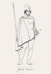Greek warrior from An illustration of the Egyptian, Grecian and Roman costumes by Thomas Baxter (1782-1821).Digitally enhanced by rawpixel. (Free Public Domain Illustrations by rawpixel) Tags: illustration psd publicdomain otherkeywords afterlife anillustrationoftheegyptian ancient ancientgreek antique arrow art artistic baxter belief brave cc0 courage drawing empire fearless gods grecian grecianandromancostumes greek greekwarrior historic historical history holding man muscle mythology old oldtime romans sketch standing strong sword thomasbaxter vintage warrior worship