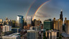 Double Rainbow Over Chicago 3 (TaffyRaphael) Tags: chicago skyline rainbow doublerainbow