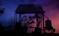 Ballad of Forgotten Places (J.J.Evan) Tags: ruins ruinas birds pájaros aves cielo sky sunset atardecer nightfall anochecer fábrica abandoned abandonado trash mood color contrast contraste silueta cloud cloudy cloudporn beatiful contraluz