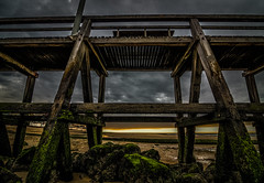 Luc-sur-Mer (Jacky Hervieux) Tags: normandie color landscape beach nuages clouds calvados lucsurmer sea sunset olympus tokina