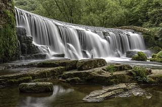 Monsal Dale Weir, River Wye, Derbyshire