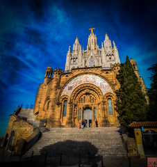Temple of the Sacred Heart of Jesus, Barcelona (1 of 1) (Nillllll) Tags: church cathedral catholicchurch barcelona europe hdr travel old