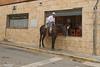 Coffee Drive Through (nigelboulton72) Tags: farmer horse cafe traditional spain andalucia niebla batis25f20