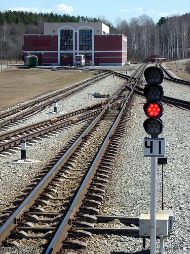 Локомотивное депо Детской железной дороги ©  ayampolsky