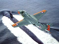 "1:72 Hawker Seahawk T 20; aircraft ""A-256/XA454"" of the Fleet Air Arm's 809 Naval Air Squadron; based on board of HMS Albion (R 07); 1959 (Whif/Hobby Boss kit conversion) (dizzyfugu) Tags: 172 hawker sea hawk trainer t20 fga3 royal navy rn hms albion carrier aircraft fictional aviation ocean conversion whif whatif hobby boss strikemaster matchbox dark grey glossy dayglo orange 809 nas naval air squadron faa fleet arm modellbau dizzyfugu model kit"