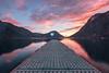 sunset's colors (Diego Pianarosa (aka Pinku)) Tags: diegopianarosa pinku sunset tramonto italy porlezza lugano lake lago lombardia svizzera switzerland longexposure lungaesposizione ponte pontile