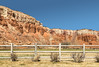 Noon at Red River Ranch (docoverachiever) Tags: utah landscape desert cliffs redriverranch capitolreef torrey scenery fence