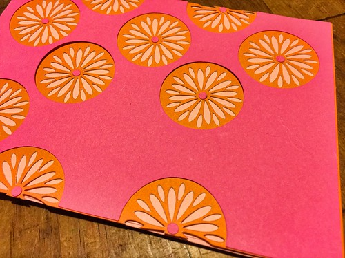 attaching 2nd layer of cardstock