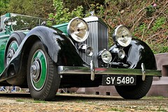 1935 Bentley 3.5 Litre Drophead Coupe SY 5480 (BIKEPILOT, Thx for + 5,000,000 views) Tags: 1935 bentley 35 litre sy5480 dropheadcoupe rrec rollsroyceenthusiastsclub southofenglandrally classic icon vintage car automobile vehicle transport brooklandsmuseum weybridge surrey uk england britain green black