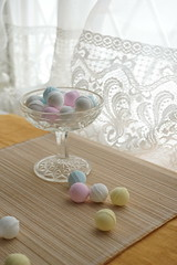 pastel candies (nearbyescape) Tags: sweets delicious tabletop table afternoon treat food styling tasty dessert happy bokeh sony alpha yum