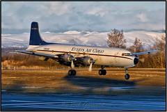 N9056R Everts Air Cargo (Bob Garrard) Tags: n9056r everts air cargo douglas dc6 dc6a dc6b winter sunset anc panc